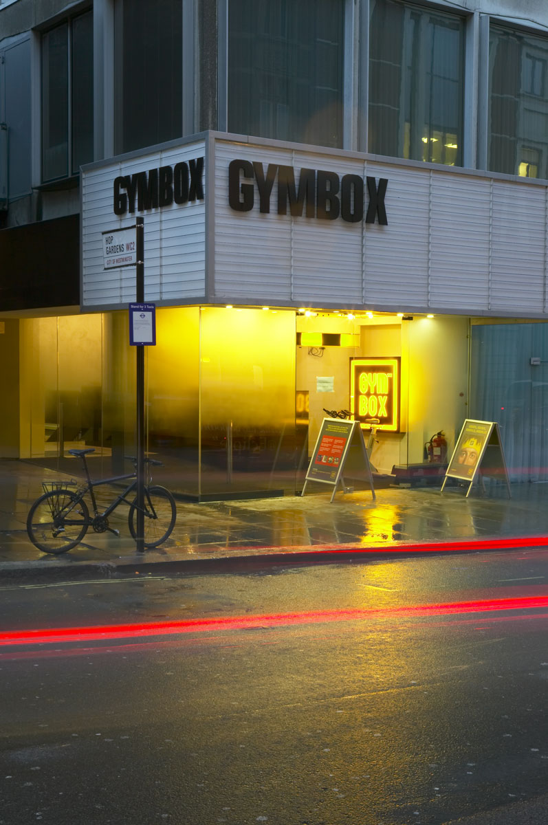 Gymbox entrance, Covent Garden, London | Interior Architectural Photography