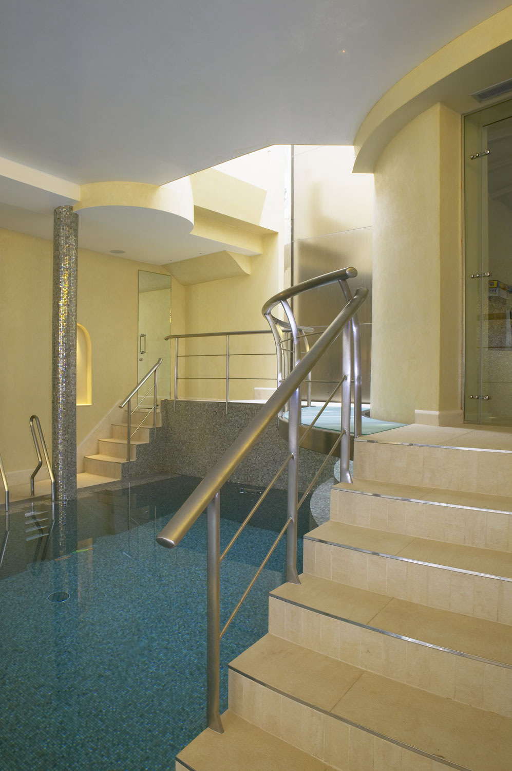 Whitestone House basement pool and sauna | Residential Photographer UK