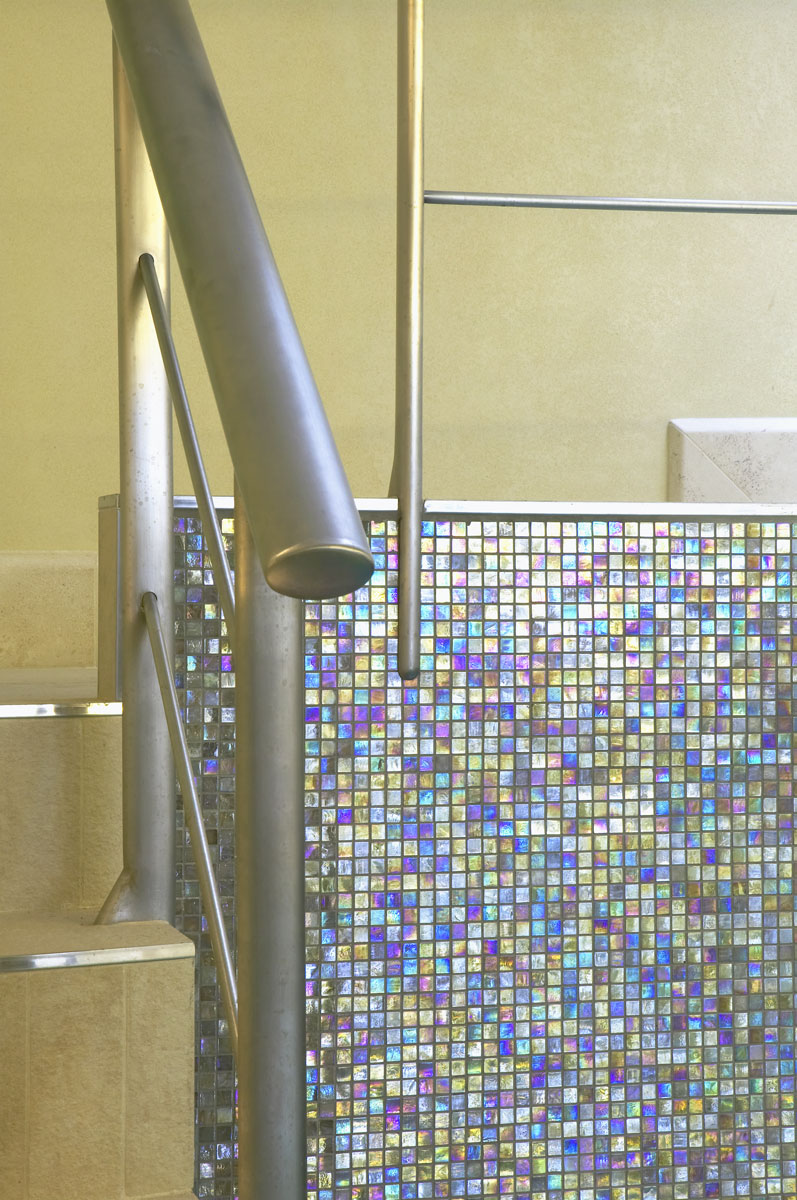 Whitestone House basement pool tiling detail | Residential Photographer UK