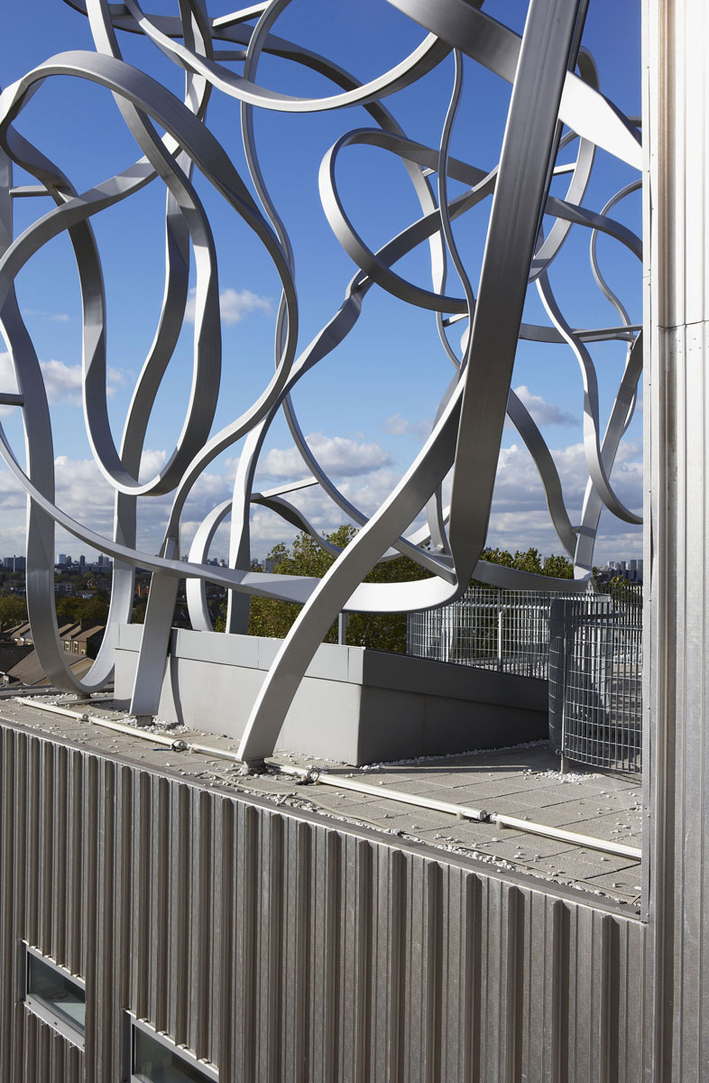 The Ben Pimlott Building 'Squiggle' sculpture at Goldsmiths College | Architectural Photographer London