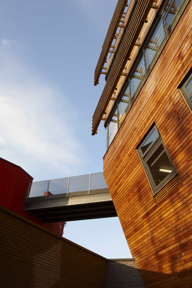 Bridge Academy cladding | Architectural Photographer