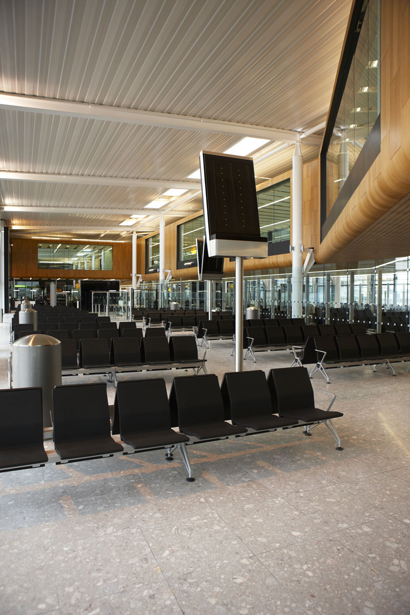 Heathrow Airport Terminal 2 seating area | Commercial Photographer UK