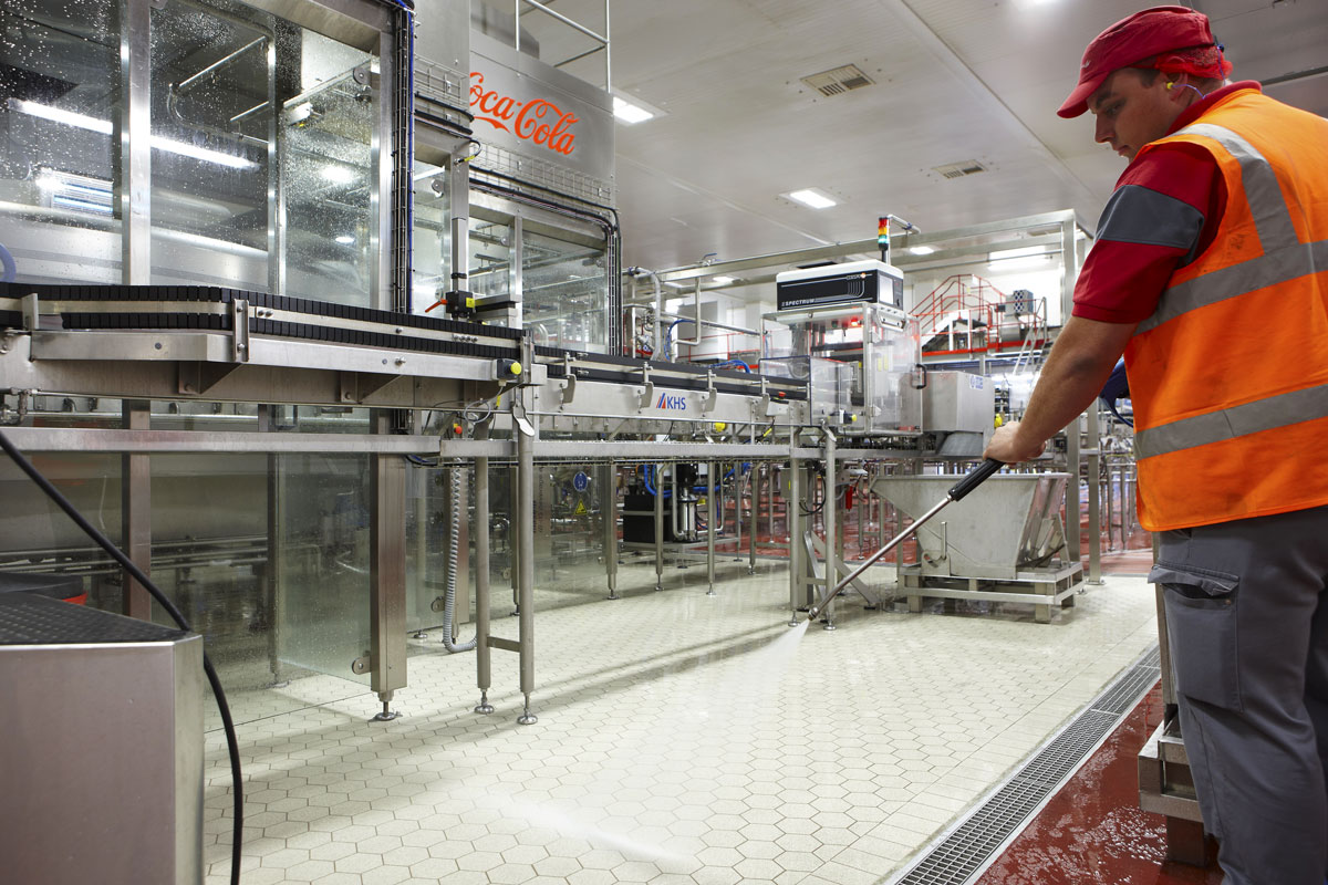 Coca-Cola manufacturing plant in Wakefield, Yorkshire | Architectural Installation Photography