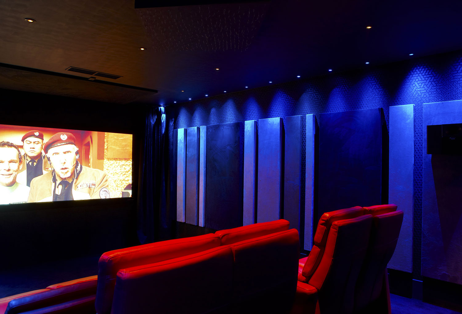 Private Residence Cinema Room with adjustable lighting system, Northwood, London | London Residential Photographers