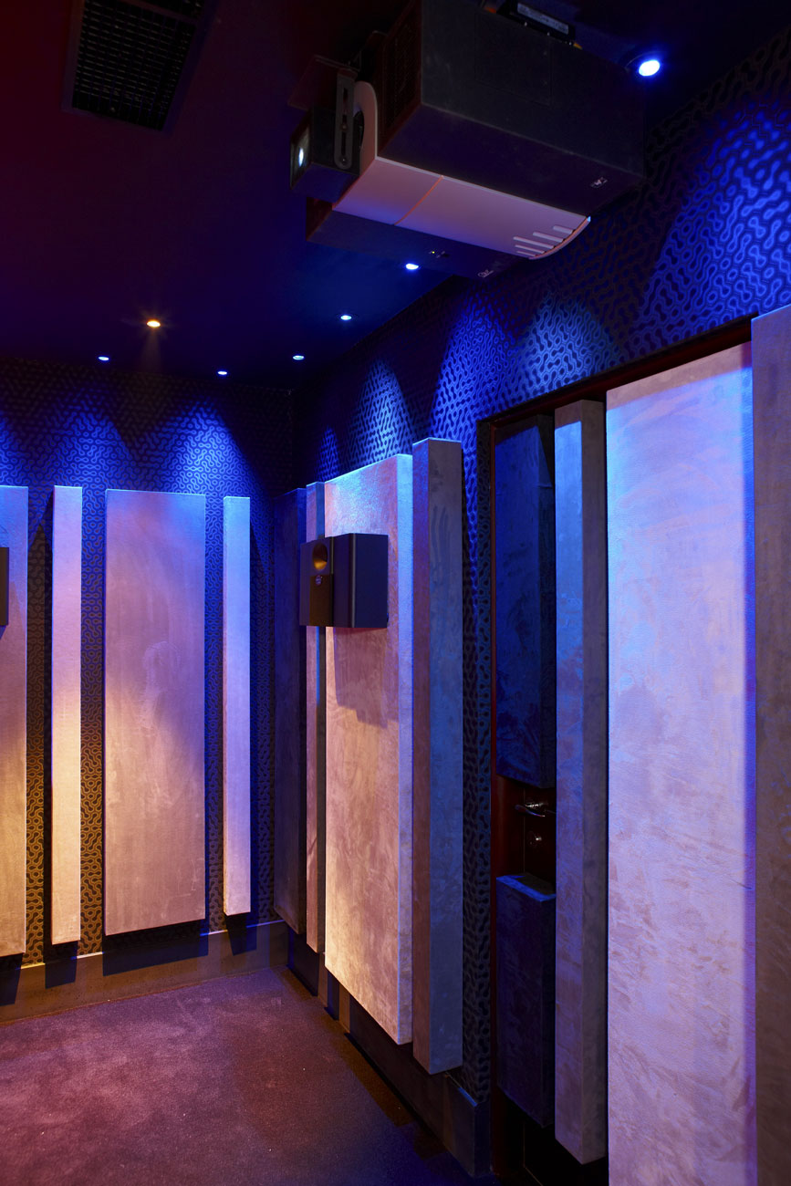 Private Residence Cinema Room Acoustic Control Panels, Northwood, London | London Residential Photographers