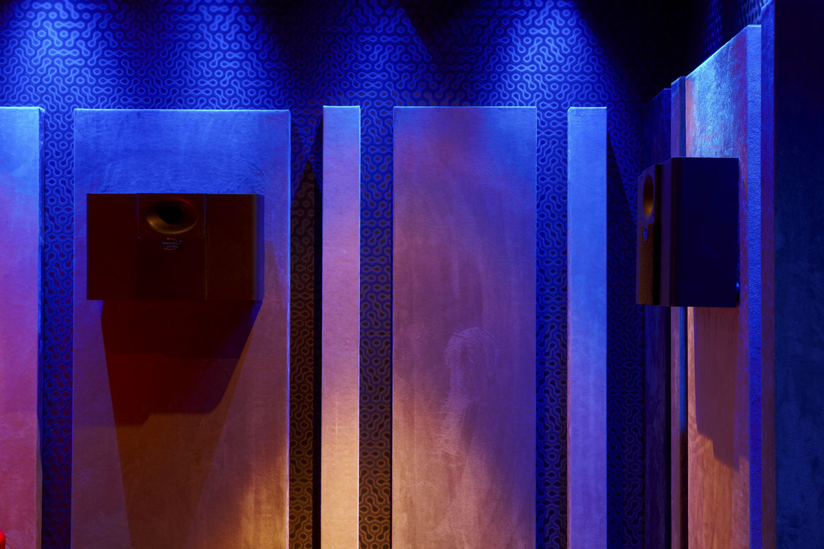 Private Residence Cinema Room Acoustic Panels and speakers, Northwood, London | London Residential Photographers