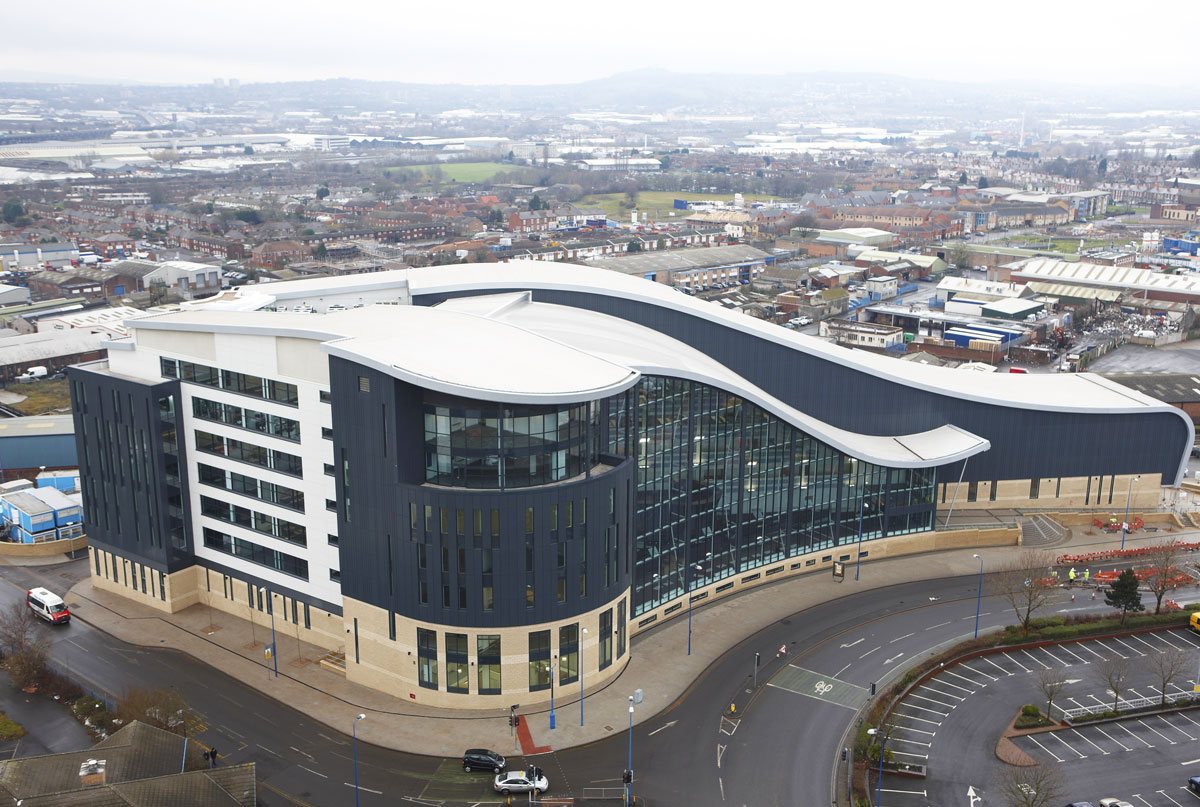Sandwell College aerial shot, Birmingham | Construction Site Photography