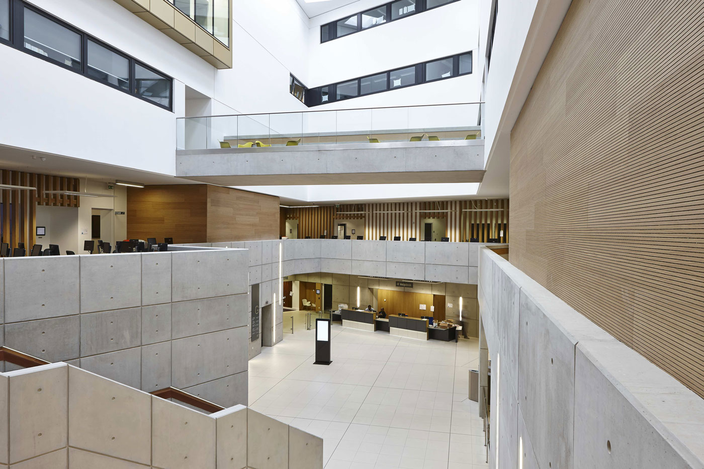 University Square Stratford Atrium | Interior Architecture Photographer