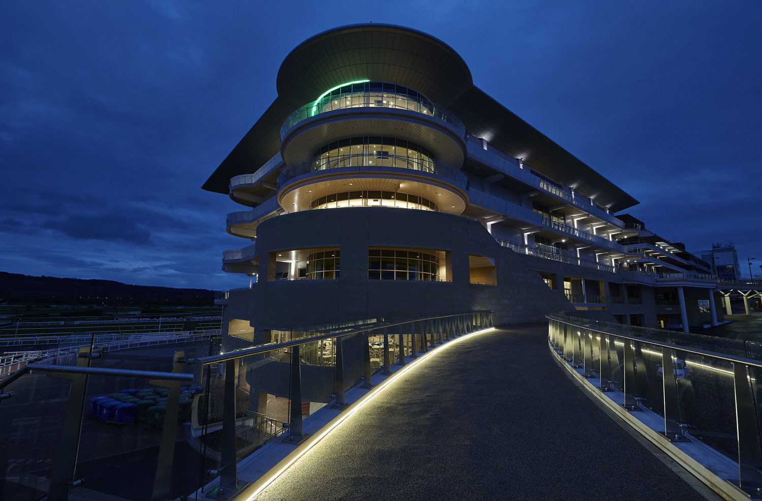 Princess Royal Grandstand Cheltenham Racecourse External | Architectural Photographer