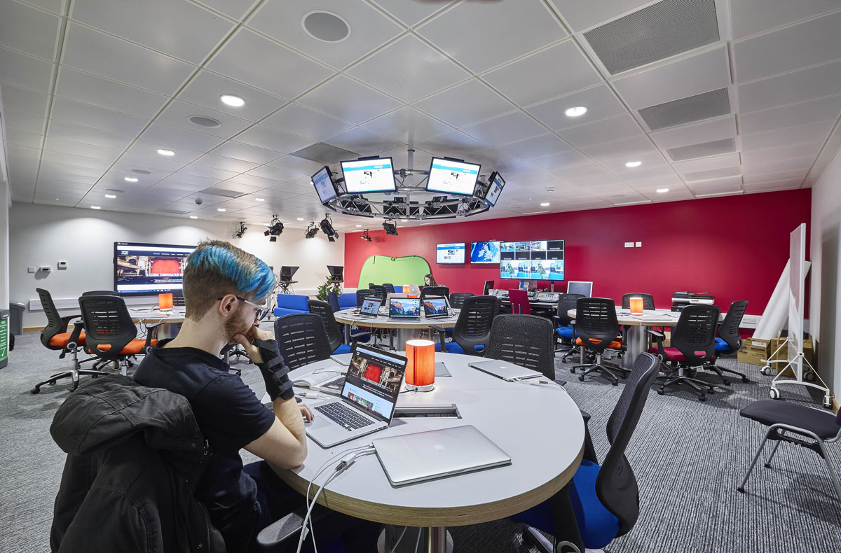 Elephant Studios Newsroom, London South Bank University | Interior Photographer