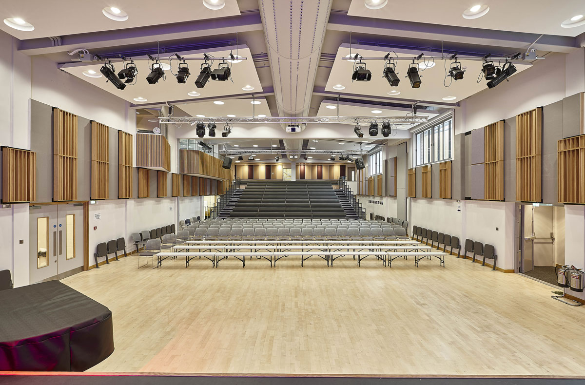 Putney High School Performing Centre Hall | Interior Photographer | Architectural Photographer