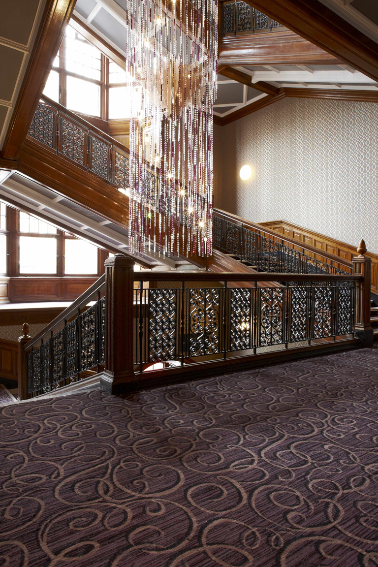 Grand Central Hotel staircase with feature lighting, Glasgow | Hotel Photography UK