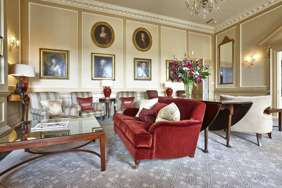 Interior photograph of lounge at Royal Crescent Hotel, Bath | London Hotel Photographer