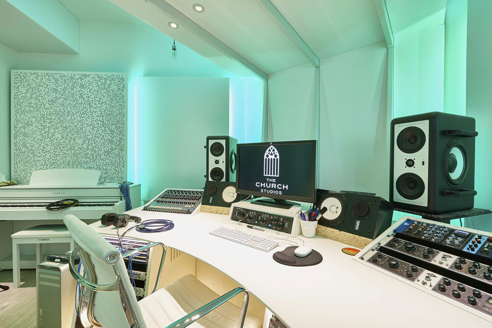 The Church Recording Studio, formerly owned by Dave Stewart of the Eurythmics has been updated by Paul Epwin | Interior Photographers | Commercial Photographer