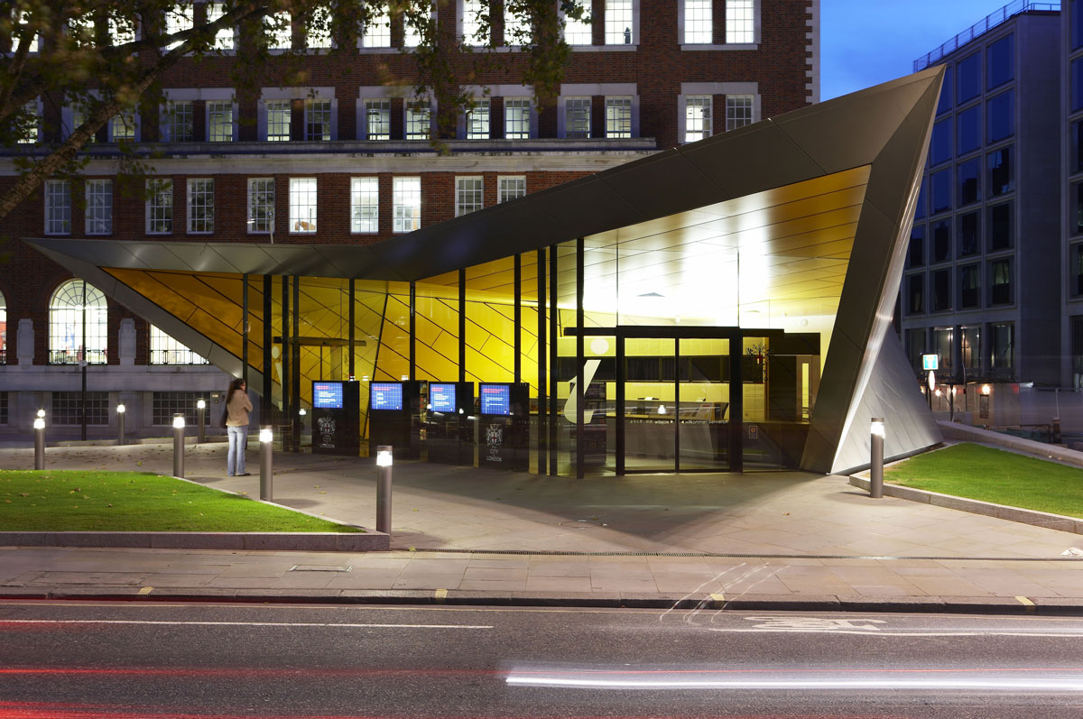 City of London Information Centre Dusk | Architectural Building Photographer