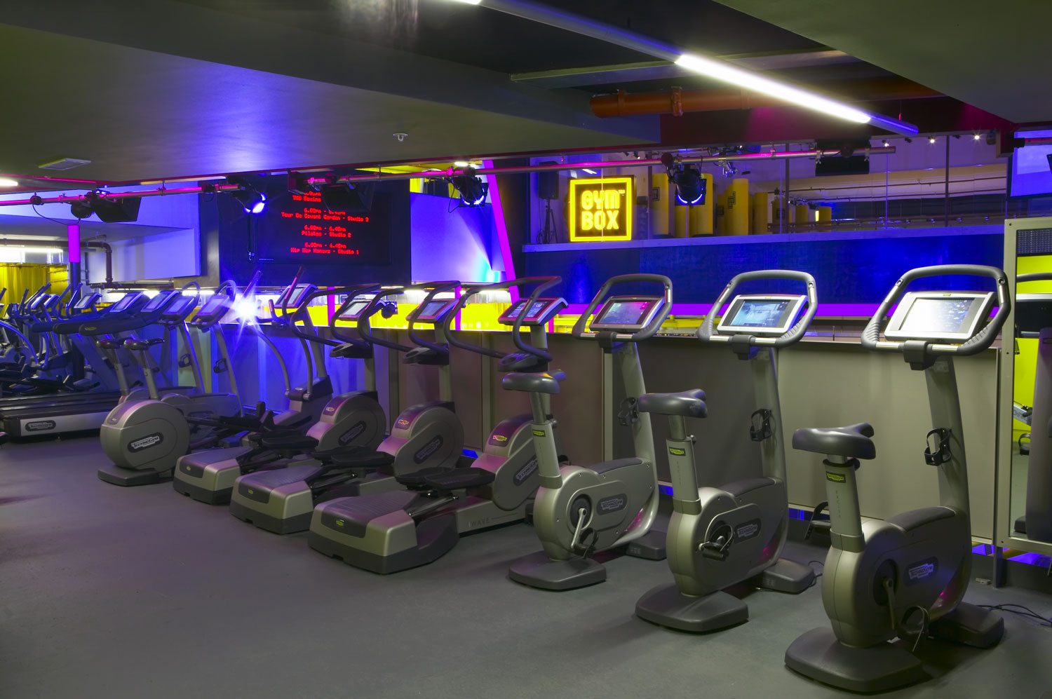 Gymbox Covent Garden, London spinning bike zone | Photographer Interiors | Commercial Professional Photographer