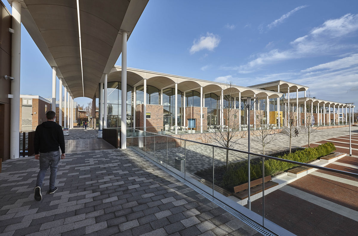 Nottingham Trent University Pavilion Covered Walkway | Architectural Photography UK