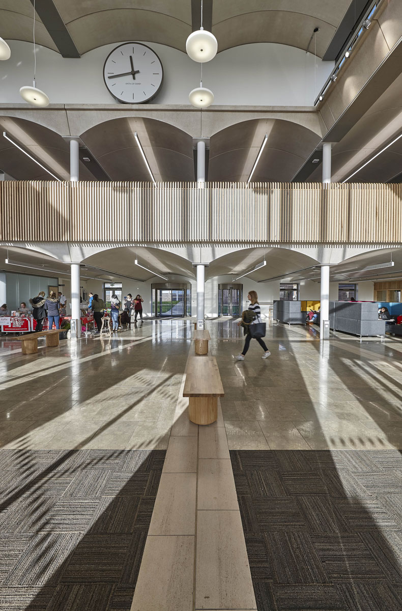 Nottingham Trent University Pavilion arched mezzanine | Architectural Photographer London