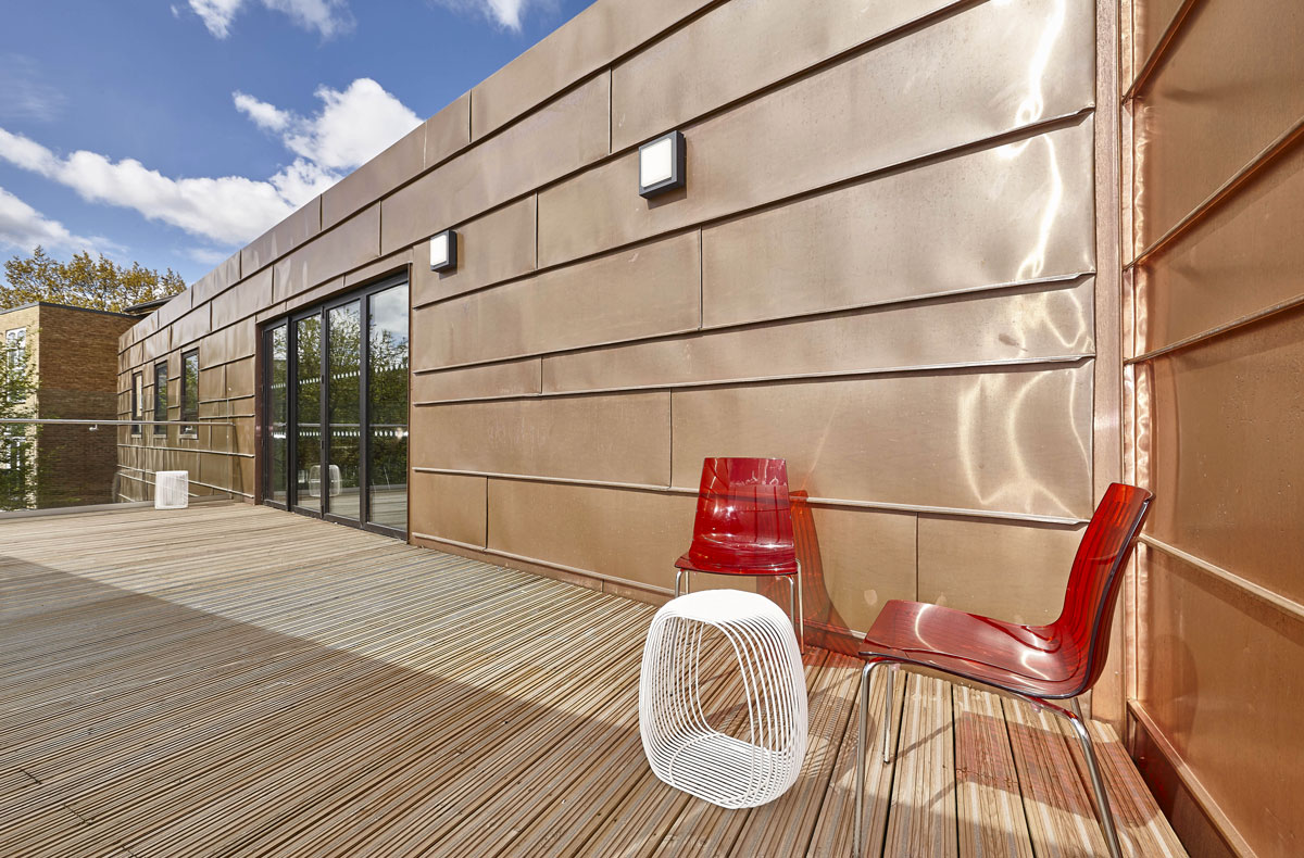 Putney High School Performing Centre Copper Clad Balcony | Interior Photographer | London Architecture Photography