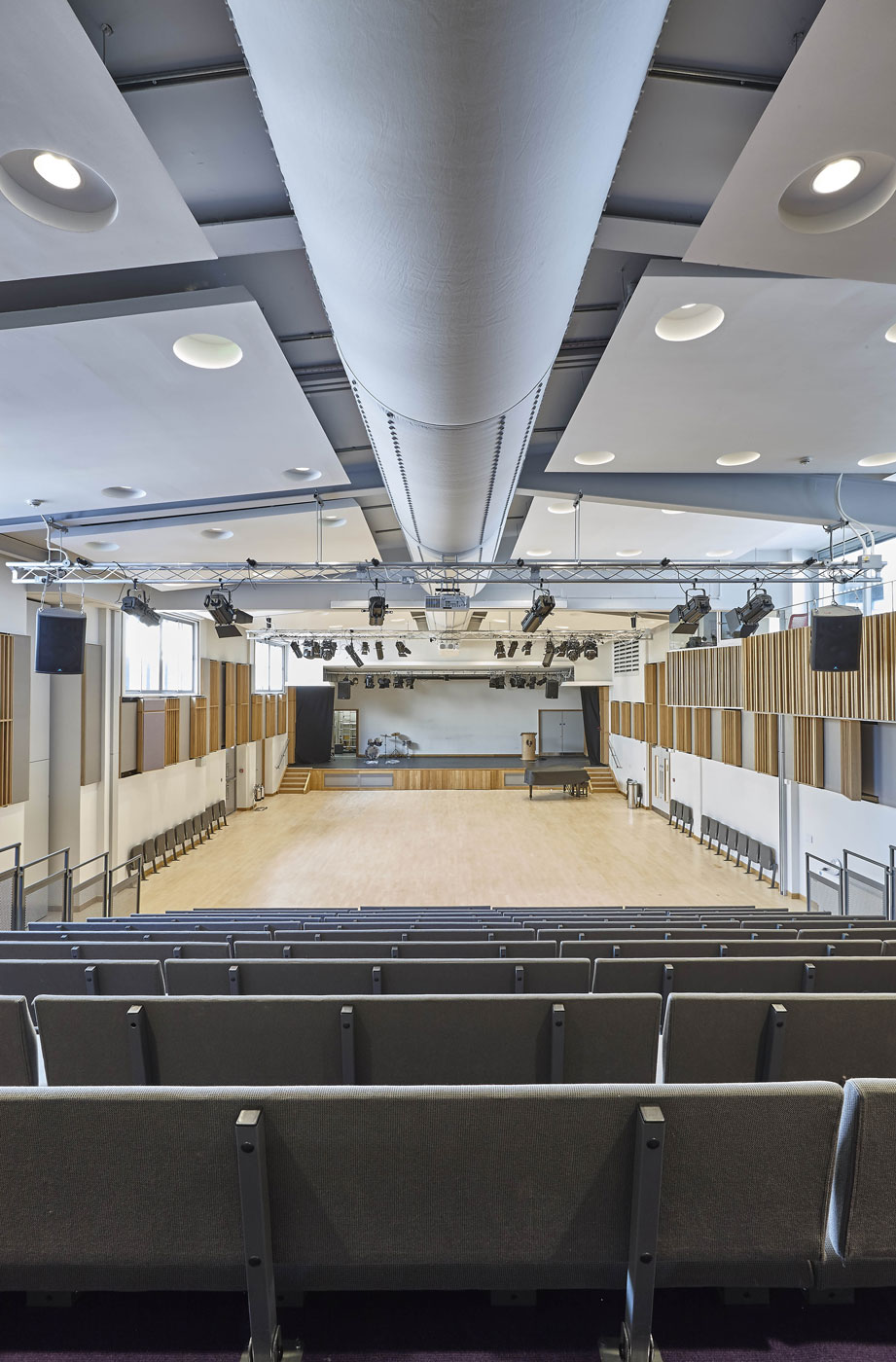 Putney High School Performing Arts Centre Noise Control | Interior Photographer | Architectural Photographer