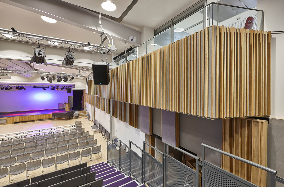 Putney High School Performing Arts Centre Control Booth Balcony | Interior Photography London | London Architecture Photography