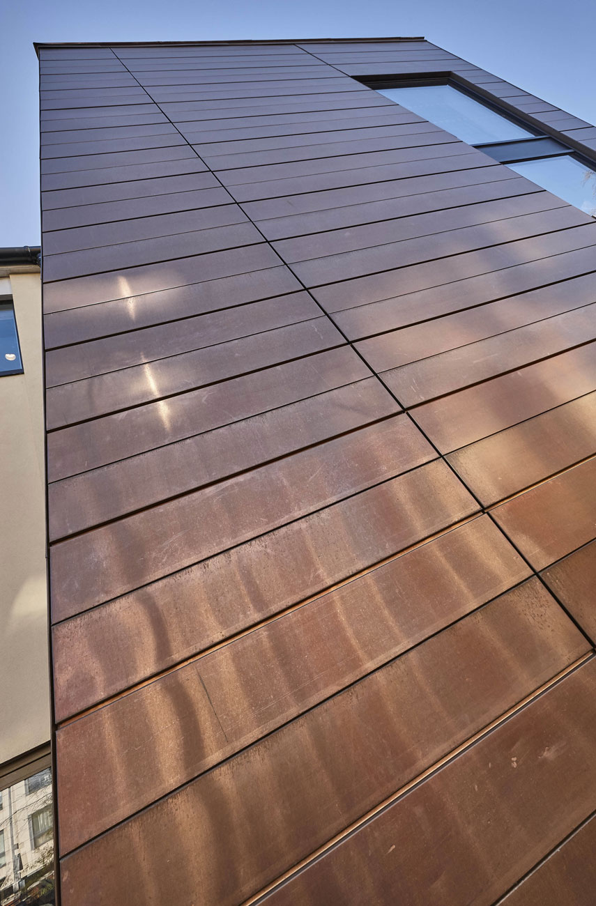 Putney High School Performing Centre Exterior Copper Cladding   Interior Photographer   Architectural Photography London