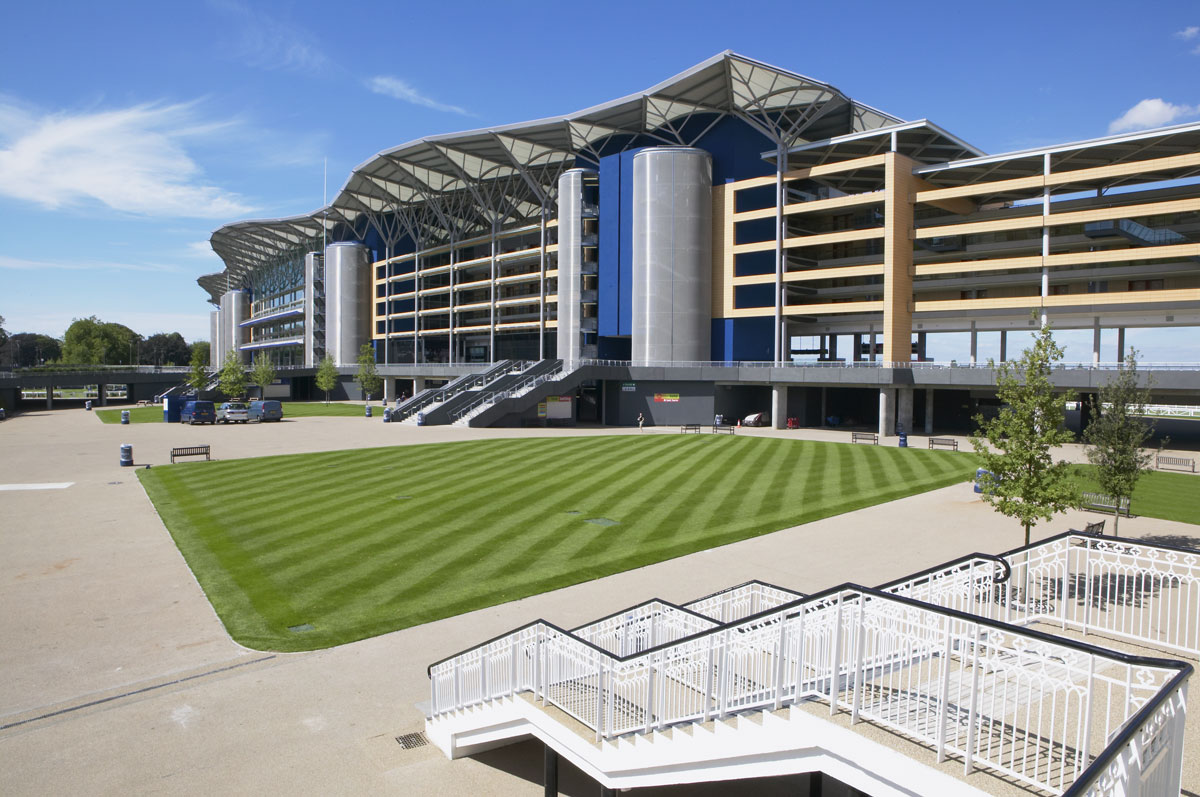 Royal Ascot Racecourse Grandstand Parade Ring Facade | Commercial Photographer Berkshire