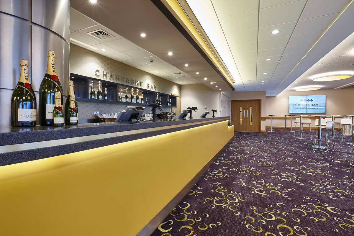 Princess Royal Grandstand Cheltenham Racecourse Champagne Bar | Interior Architecture Photographer