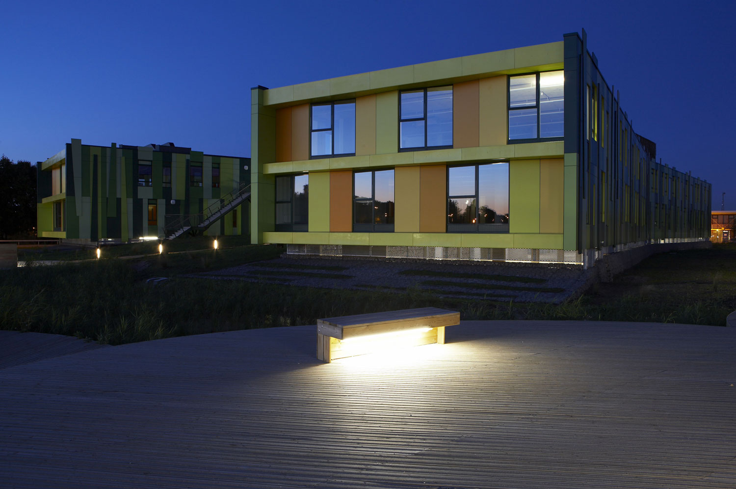 No. 1 Nottingham Science Park at Dusk | Architecture Detail Photography