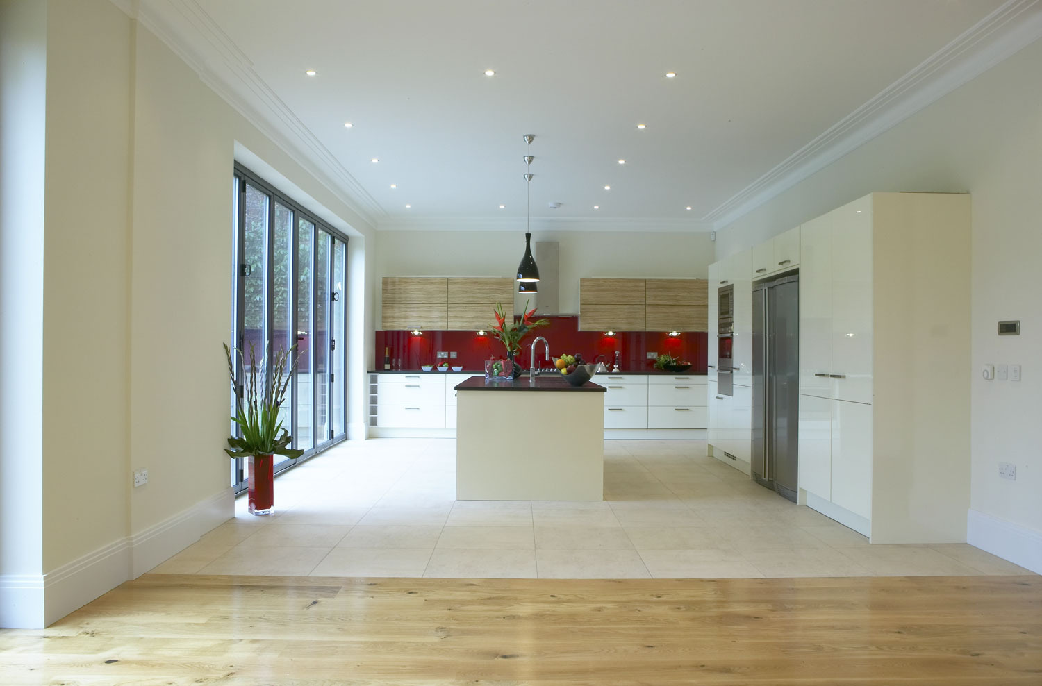 Luxury tiled kitchen in a Rickmansworth mansion | Residential Photographer London | Interior photographers london