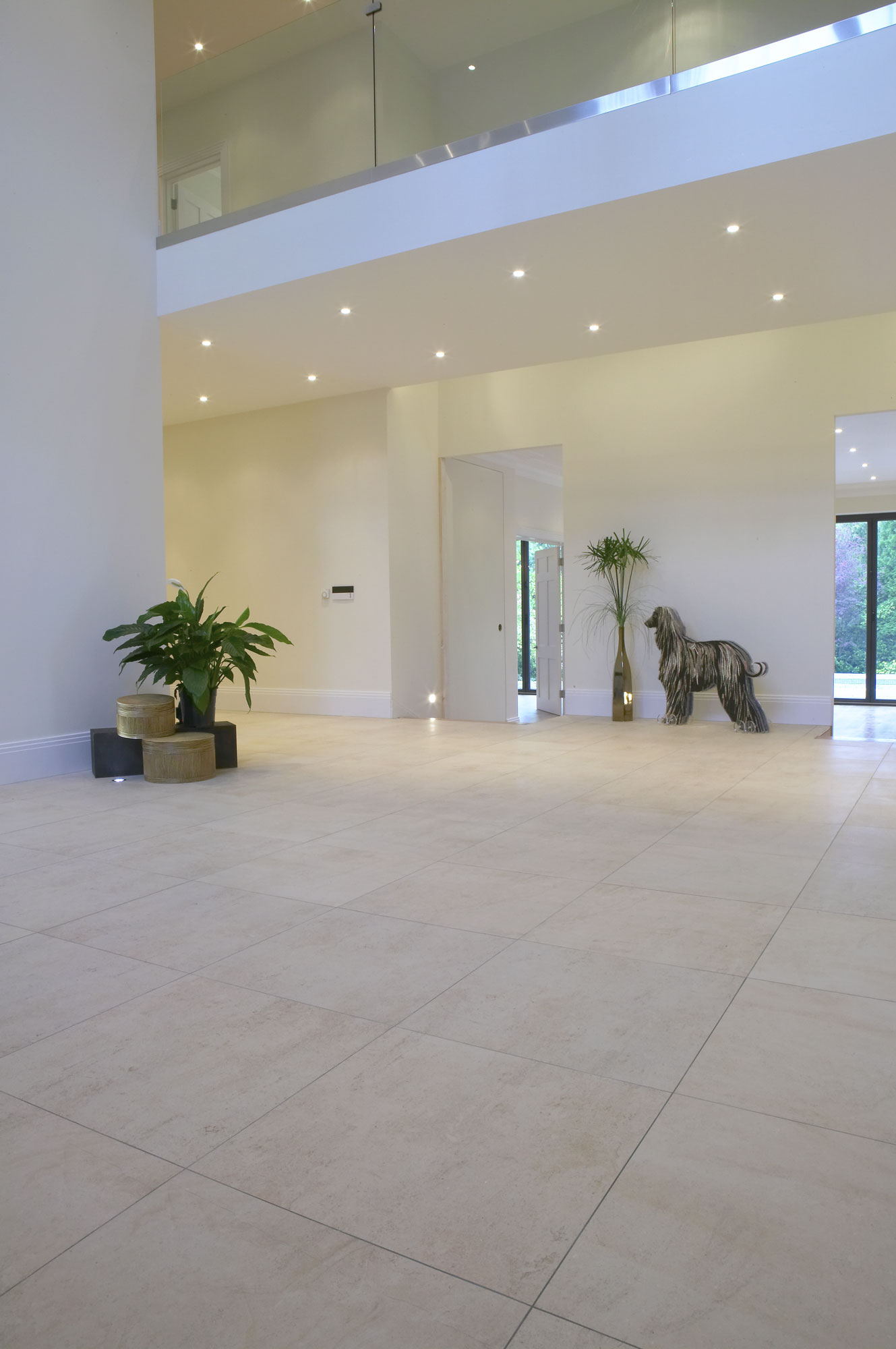 Luxury tiled entrance hall in a Rickmansworth mansion | Residential Photographer