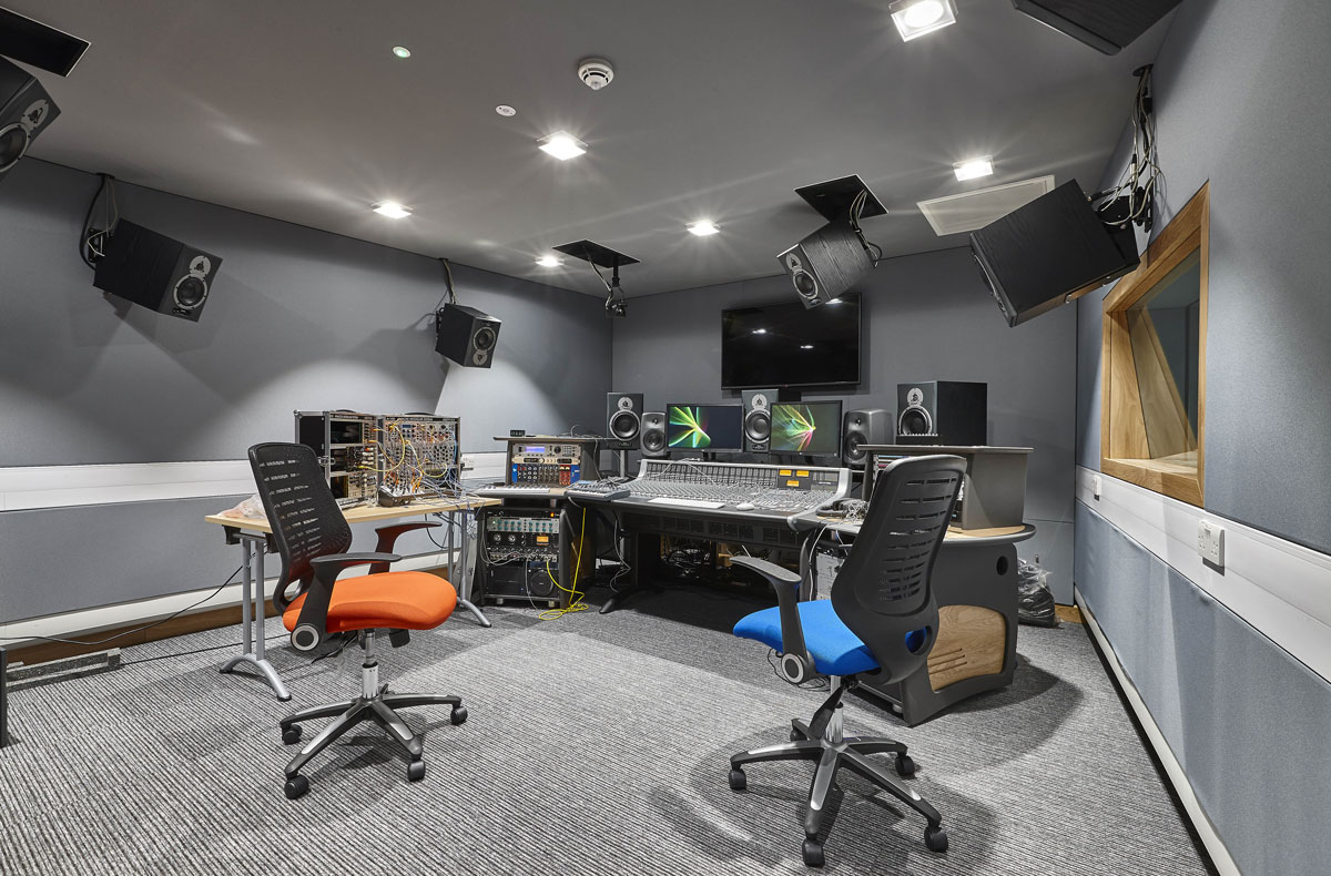 Elephant Studios recording booths , LSBU | Interior Photographers London | Commercial Building Photographer London