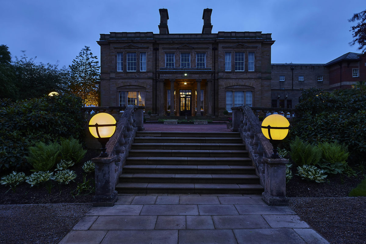 Hotel Photography of Oulton Hall Hotel, Leeds at dusk | Hotel Photographers UK | Commercial Photography