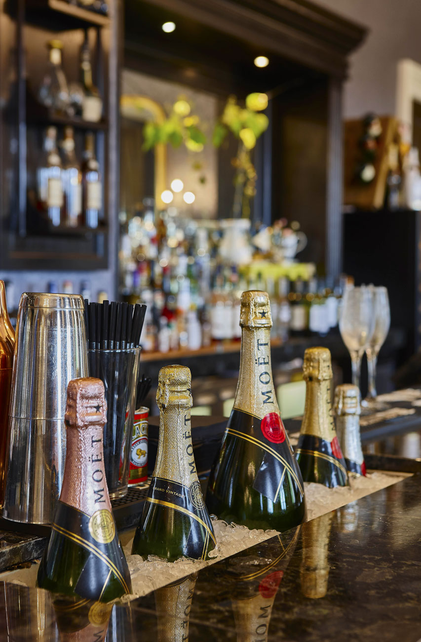 Hotel Photography of the Champagn Bar at Oulton Hall Hotel, Leeds | Hotel Photographer UK | Commercial Photography