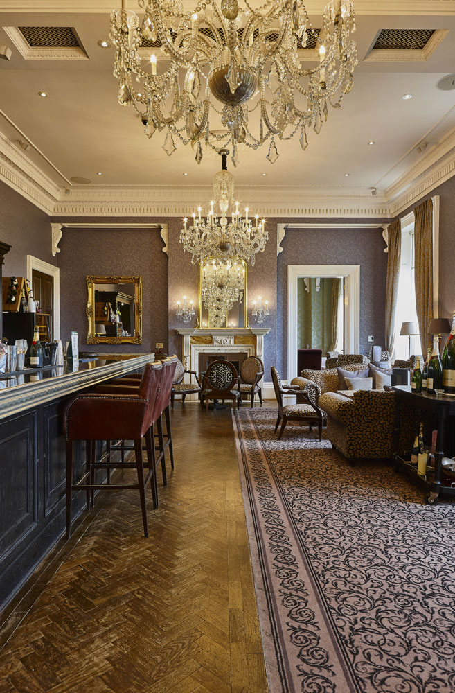 Hotel Photography of the Champagne Bar at Oulton Hall Hotel, Leeds | Hotel Photographer UK