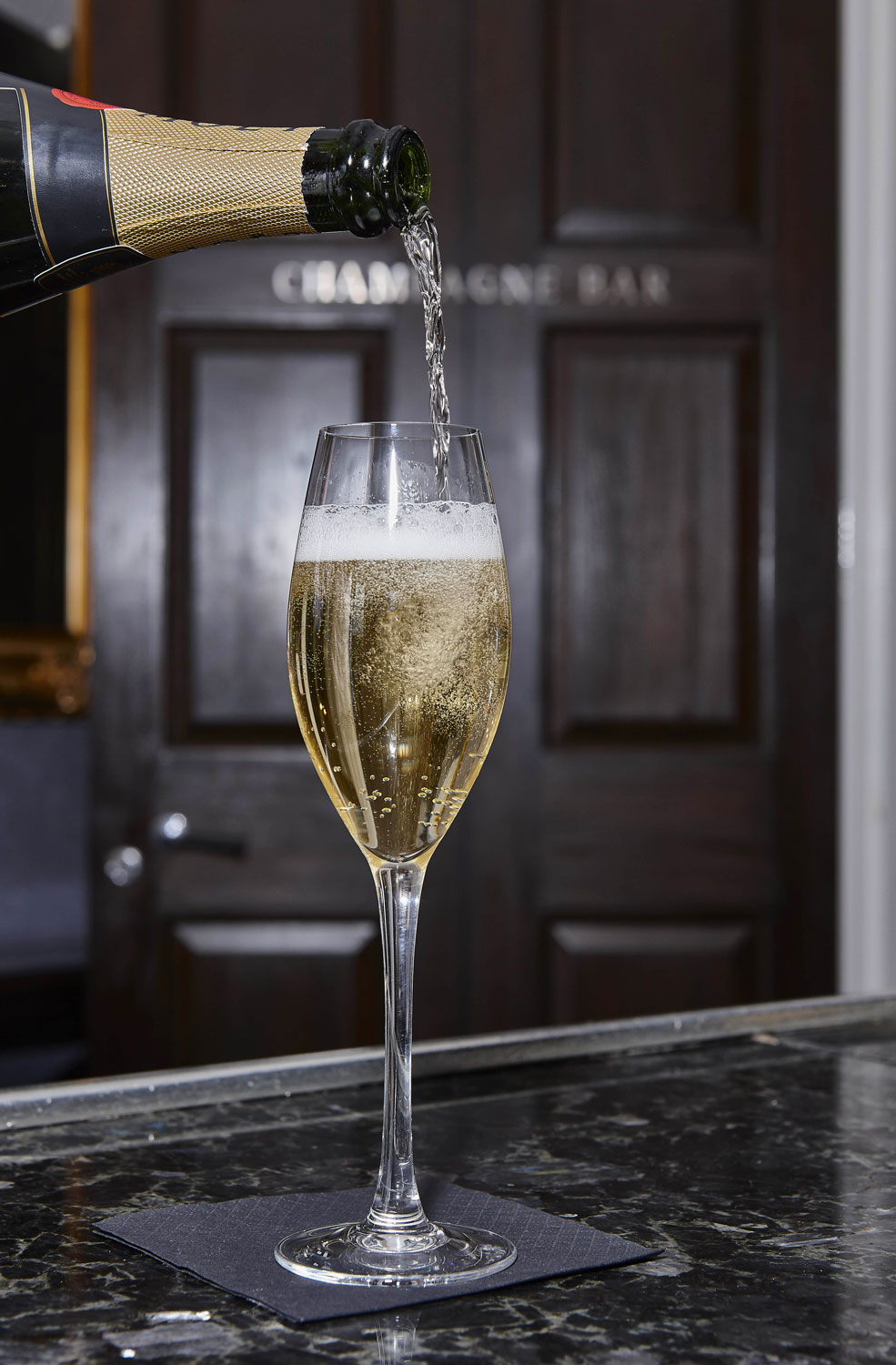 Hotel Photography of the Champagne Bar at Oulton Hall Hotel, Leeds | Hotel Photographer UK | Commercial Photography