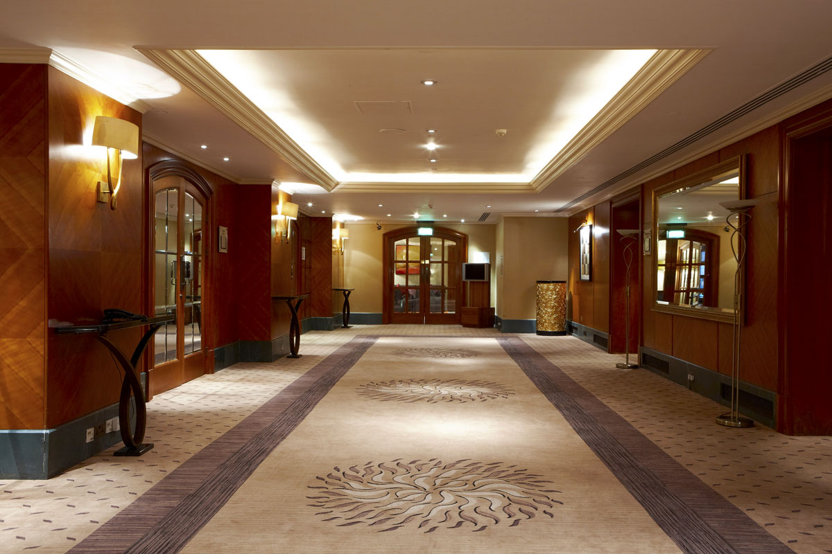 Jumeirah Carlton Tower Hotel, London Ballroom Lobby | Commercial Hotel Photographer