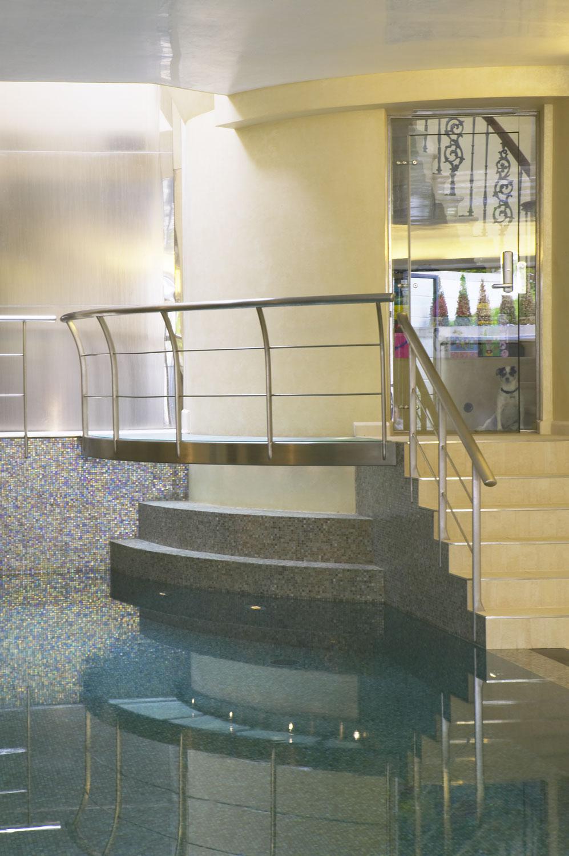 Whitestone House basement pool and dog   Residential Photographer