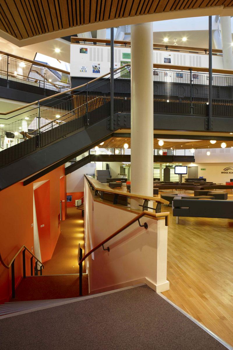 Bridge Academy multi level walkways, Hackney | London Architecture Photographer