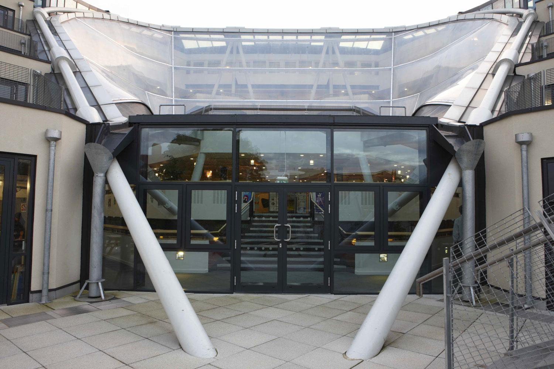 Bridge Academy Atrium Roof Ring Beam, Hackney | London Architecture Photographer