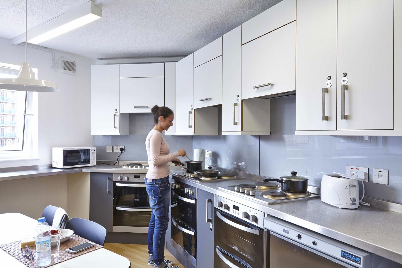 Sir John Cass Halls Kitchen, University of Arts, London   Architectural Installation Photography