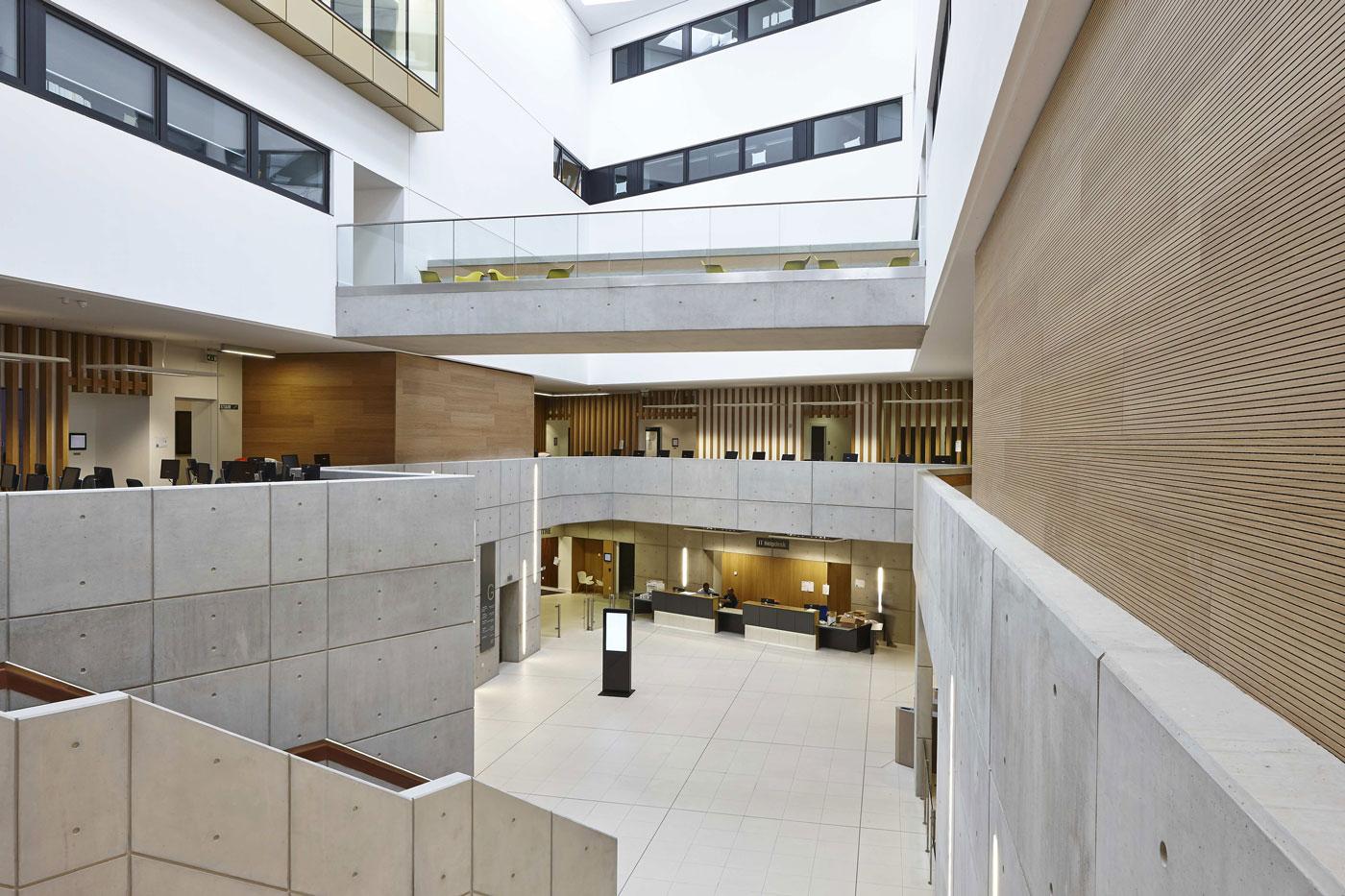 University Square Stratford Atrium | Interior Architecture Photographer