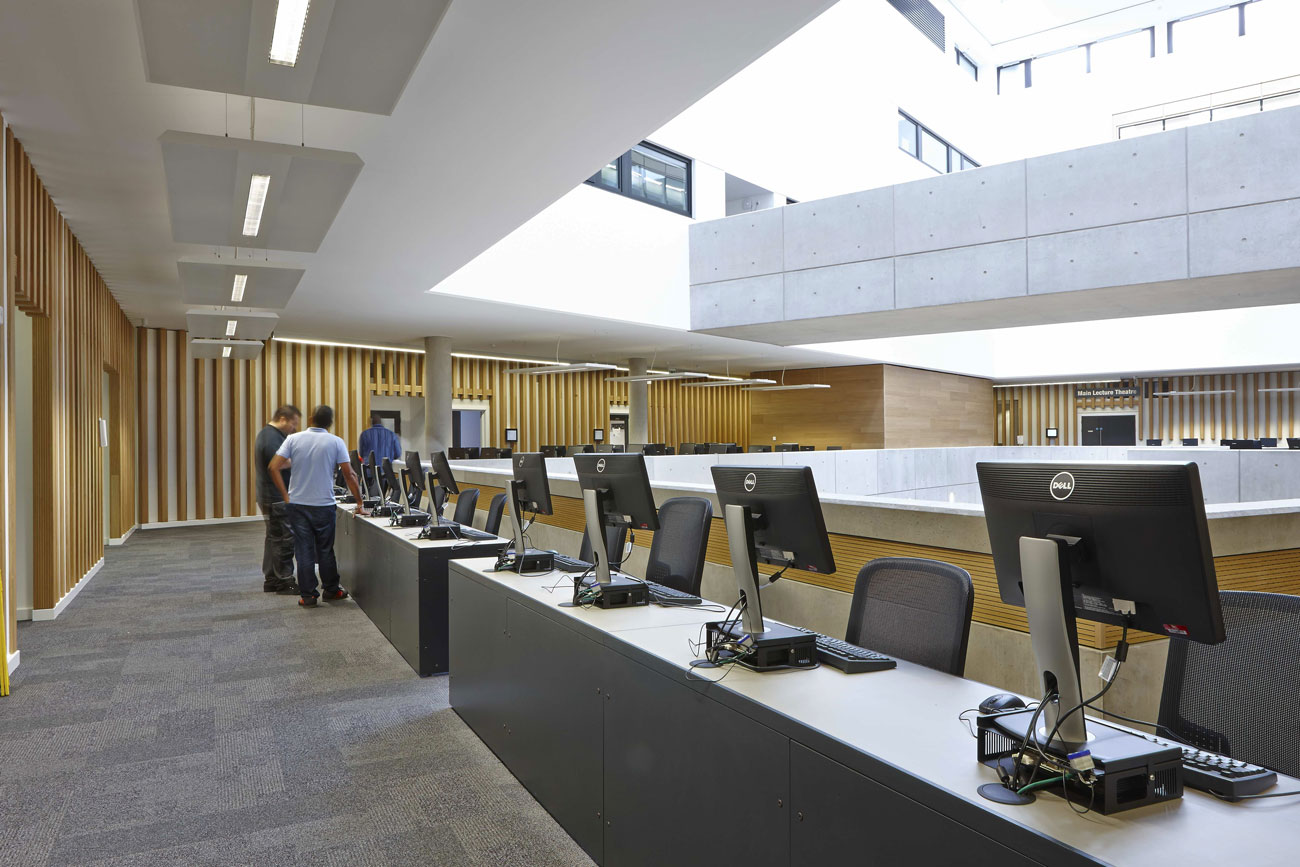 University Square Stratford self-study area | Interior Architecture Photography | Commercial Buildings Photographer