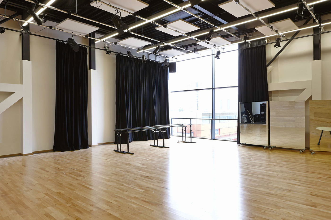 University Square Stratford Dance Room | Interior Architecture Photography | Commercial Buildings Photographer