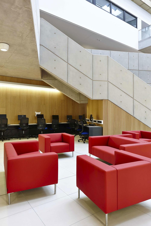 University Square Stratford Atrium | Interior Architecture Photography | Commercial Buildings Photographer