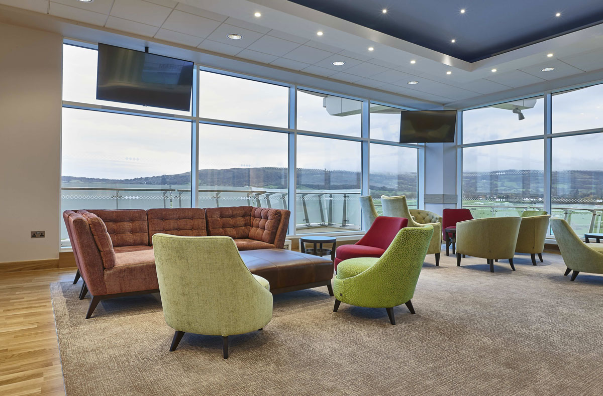 Princess Royal Grandstand Cheltenham Racecourse Royal Box | Commercial Interior Photographer | Interior Photography