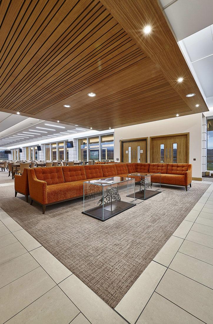 Princess Royal Grandstand Cheltenham Racecourse Cheltenham Club Suite | Commercial Interior Photographer | Interior Photography