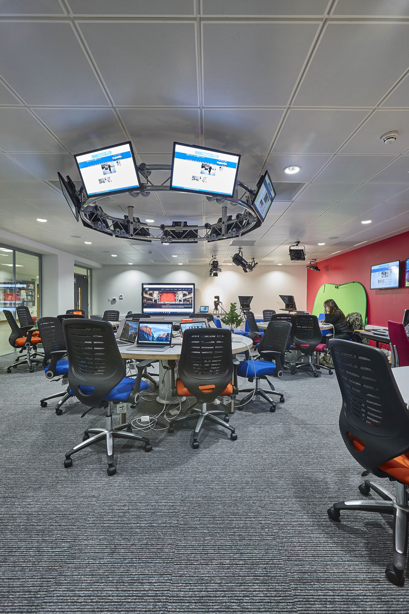 Elephant Studios Newsroom, LSBU | Interior Photographers London | Commercial Building Photographer London