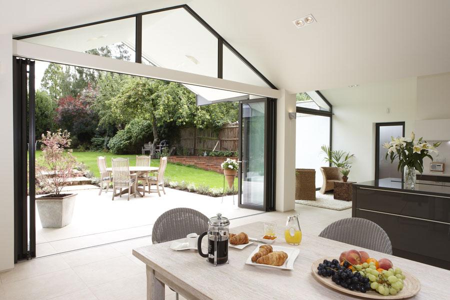 Hitchin Kitchen limestone tiling by mace architects | Architectural Photographers