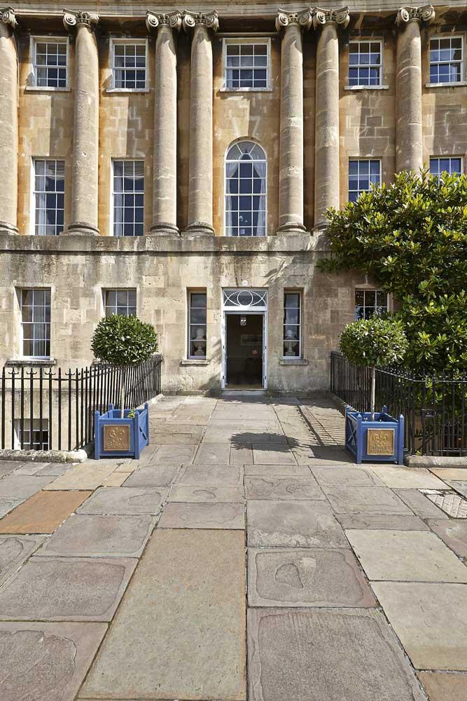 Entrance to Royal Crescent Hotel, Bath | London Hotel Photographer
